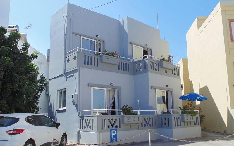Hotell Zoi i Platanias på Kreta, Grekland.